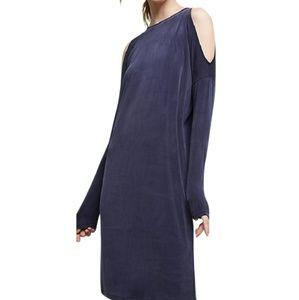 Anthropologie | Eri + Ali Navy Cold Shoulder Dress